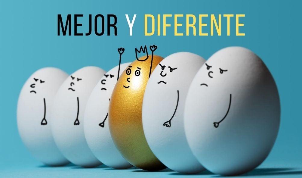 mejor y diferente