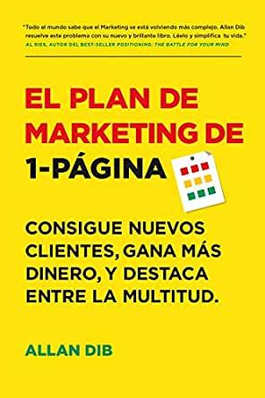 plan de marketing de una hoja